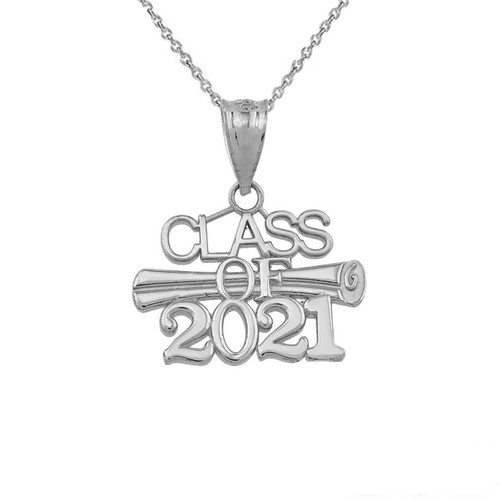 Class of 2021 Pendant Necklace in Sterling Silver