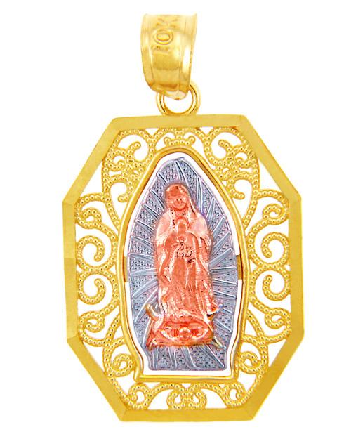 Gold Pendants - The Guadalupe Three-Tone Gold Pendant