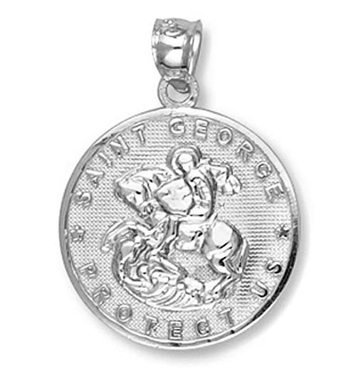 White Gold Saint George Pendant