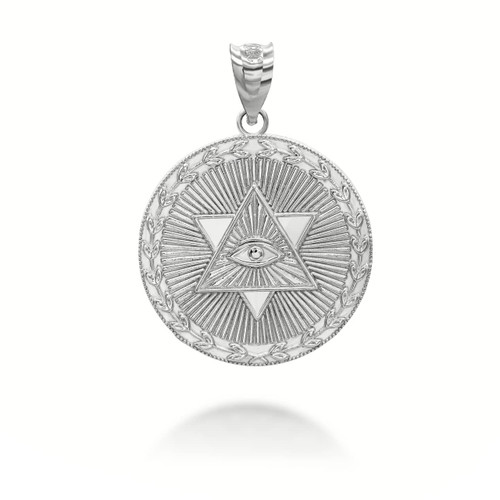 925-sterling-silver-star-of-david-all-seeing-eye-medallion-coin-pendant-necklace