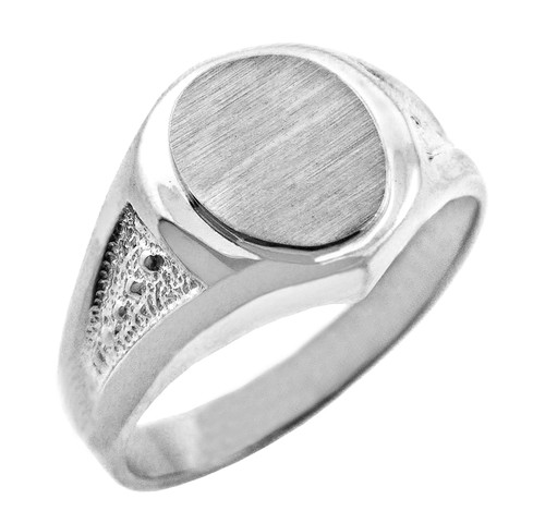 The Apollo Solid White Gold Signet Ring