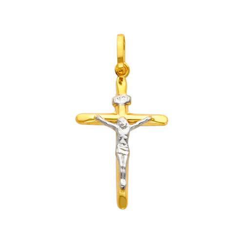 Charming 14K Two-Tone Crucifix