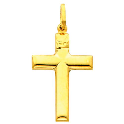 14K Gold Beatific Cross pendant