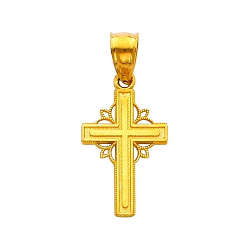 14K Gold Adorned Cross pendant