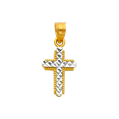 14K Two-Tone Gold - The Charmer Cross