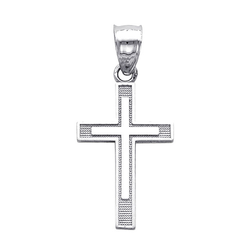 The Way of the Cross Small pendant - 14K White Gold