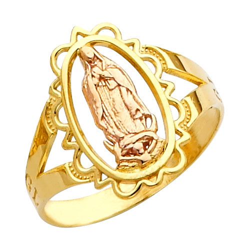"""Our Lady of Guadalupe/Nuestra Señora de Guadalupe"" Ring"
