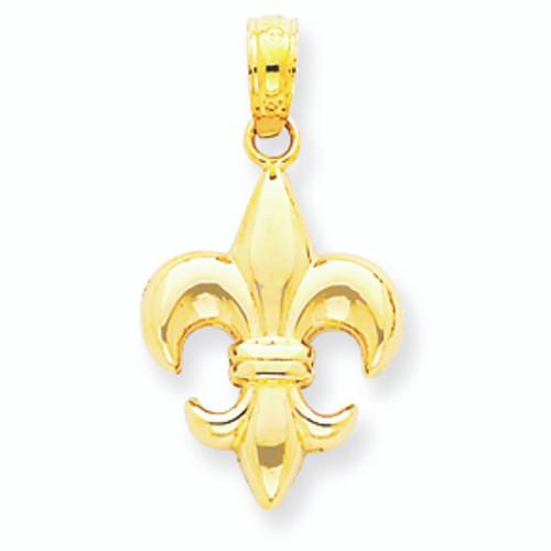 14K Gold Fleur de lis La Petite