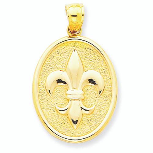 14K Gold Fleur de lis Elegance