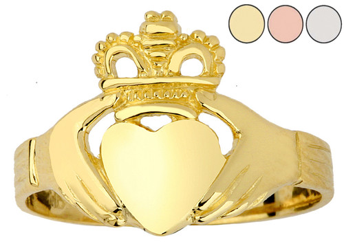 Gold Claddagh Ring Ladies Traditional