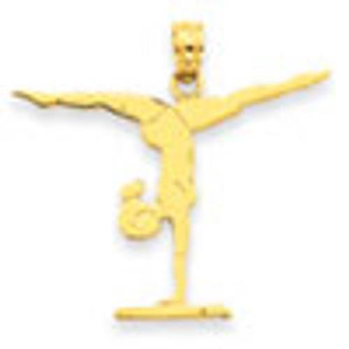 Yellow Gold Gymnastics Floor Pendant