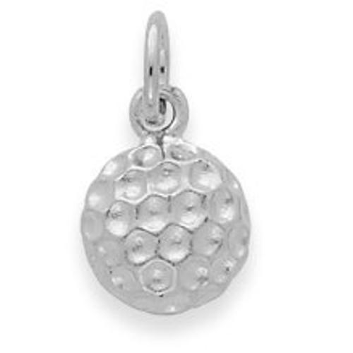 14K White Gold Golf Ball Charm