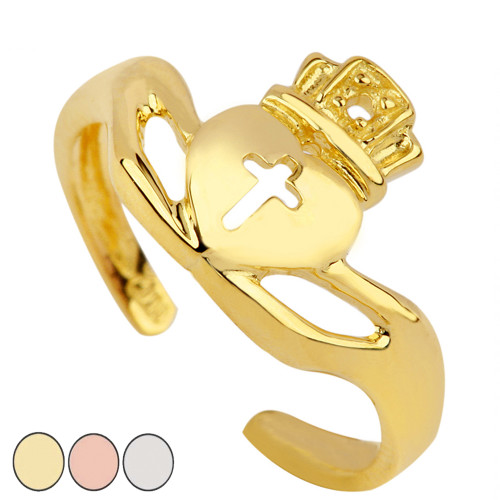 Claddagh Toe Ring in Gold (Yellow/Rose/White)