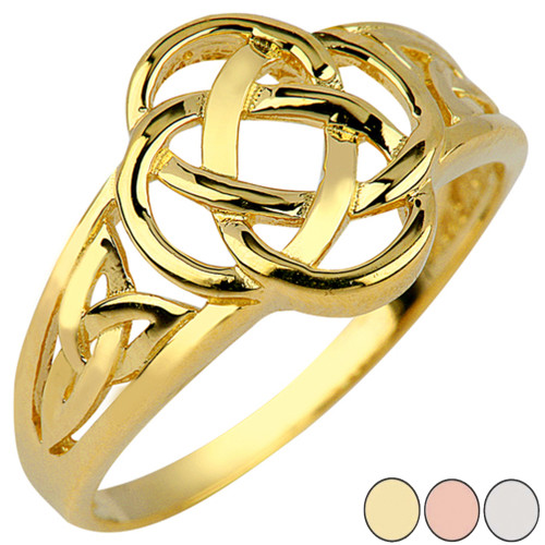 Dara Knot Trinity Ring in Gold (Yellow/Rose/White)