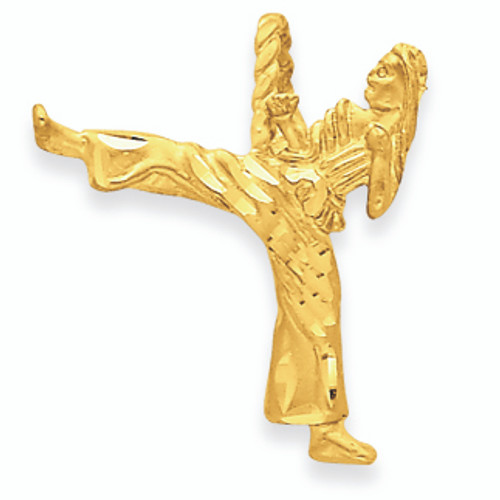 14K Gold Girl Karate Charm