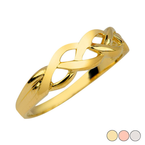 Trinity Weave Ring in Gold (Yellow/Rose/White)