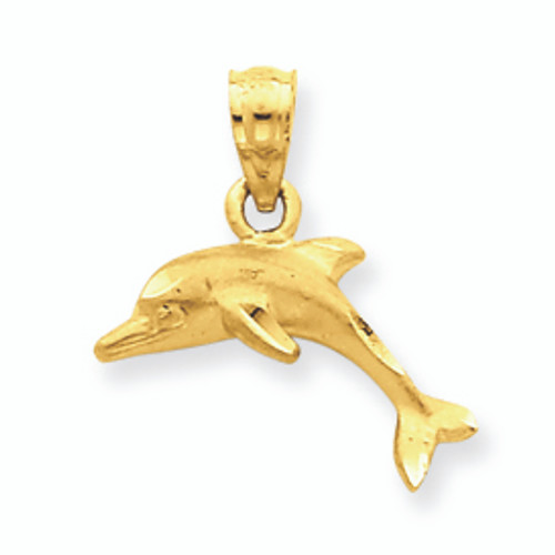 Gold Dolphin Charm