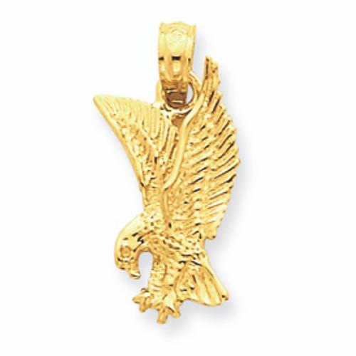 14K Gold Eagle Pendant