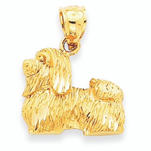 14K Gold Shih Tzu Pendant