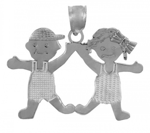 Silver Baby Charms and Pendants - Boy and Girl