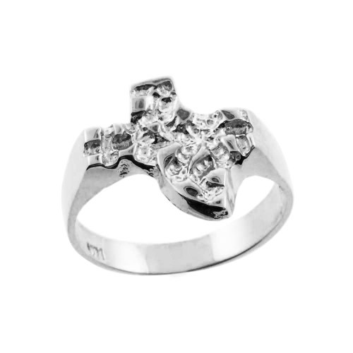 White Gold Texas Nugget Ring