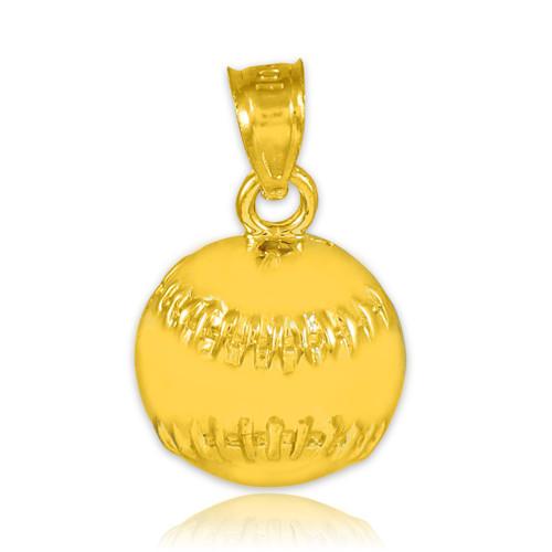 Gold Baseball/Softball Charm Sports Pendant Necklace