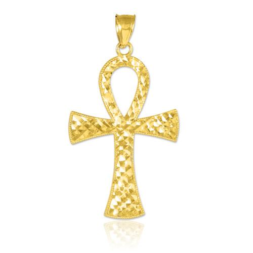 Ankh Cross Gold Pendant Necklace