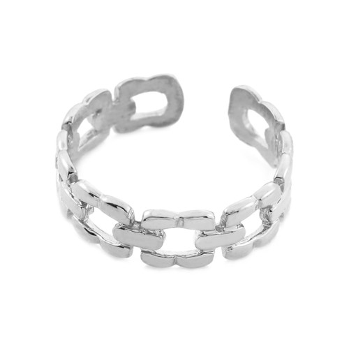 White Gold Chain Link Toe Ring