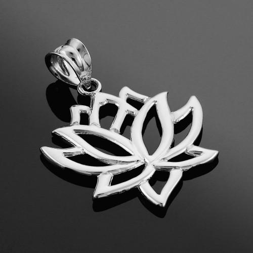 925 Sterling Silver Lotus Flower Pendant