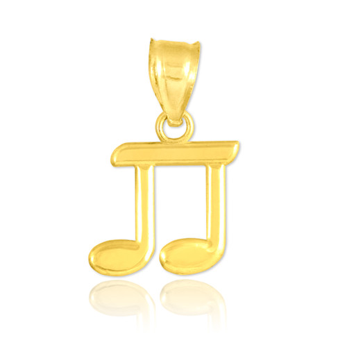 Gold Beamed Eighth Note Pendant
