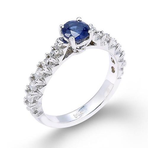 14k Sapphire Diamond Engagement Ring