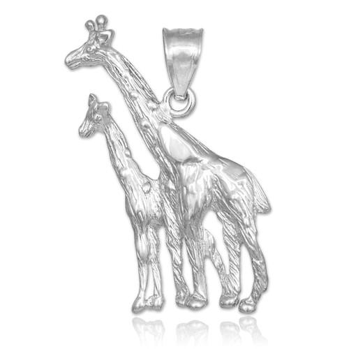 white gold giraffe pendant