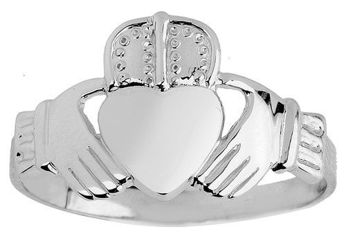 Silver Claddagh Ring Mens