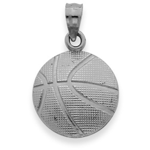 New 0.925 Sterling Silver Basketball Charm Sports Pendant Necklace