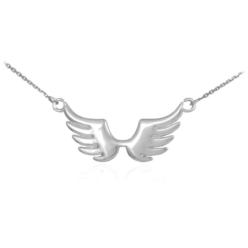 925 Sterling Silver Angel Wings Necklace