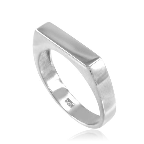 Sterling Silver Stackable Unisex Signet Ring