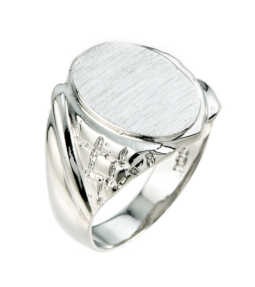 925 Sterling Silver Men's Signet Ring