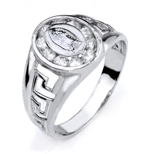 Sterling Silver Greek Key Guadalupe Ring