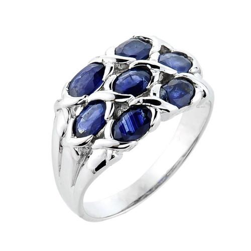 10k White Gold Sapphire Ring
