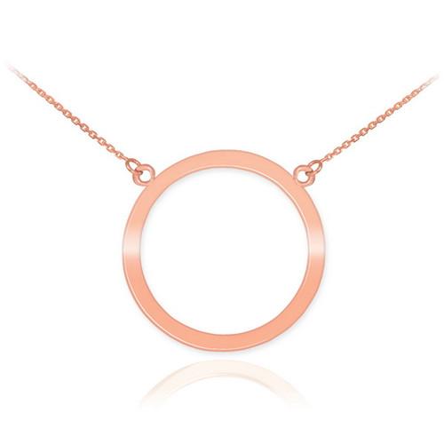 14K Rose Gold Circle Of Life Karma Necklace