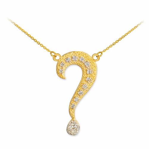Diamond question mark necklace