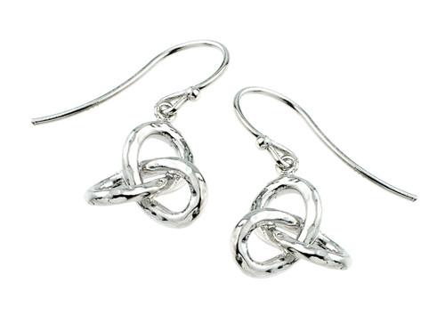 Trinity Knot Silver Earrings