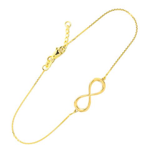 14k Gold Infinity Bracelet