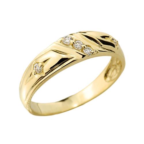 Gold Ladies Diamond Wedding Ring
