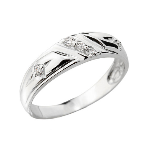 White Gold Ladies Diamond Wedding Ring