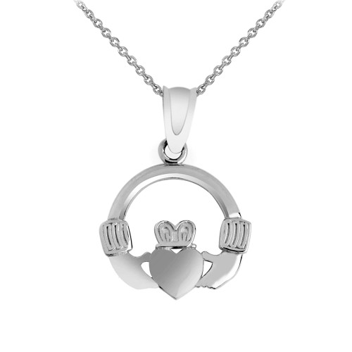 Silver Claddagh Pendant Necklace