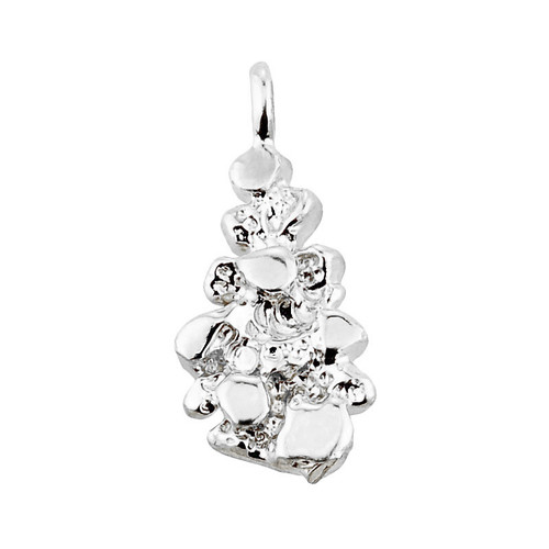 Sterling Silver Nugget Pendant