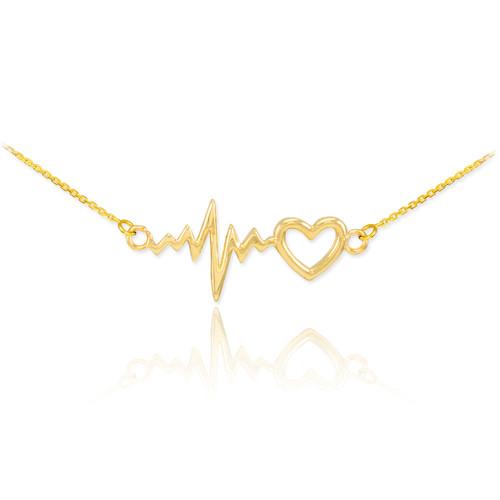 Heartbeat Necklace - 14K Gold