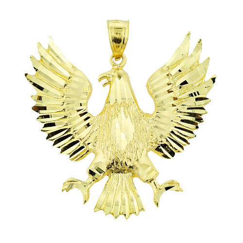 Solid Gold Polish Eagle Pendant