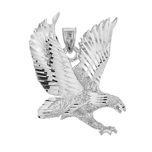 White Gold Eagle Pendant